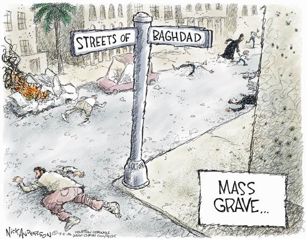 Cartoonist Nick Anderson  Nick Anderson's Editorial Cartoons 2006-07-11 Iraq insurgency