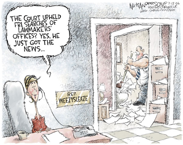 Nick Anderson  Nick Anderson's Editorial Cartoons 2006-07-13 political corruption