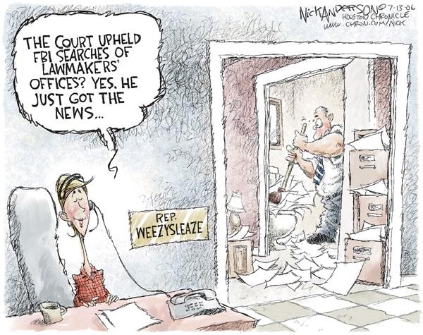 Nick Anderson  Nick Anderson's Editorial Cartoons 2006-07-13 corruption