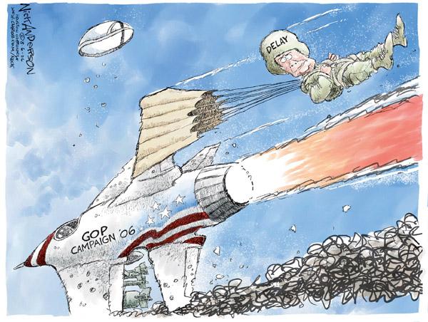 Cartoonist Nick Anderson  Nick Anderson's Editorial Cartoons 2006-08-06 delay