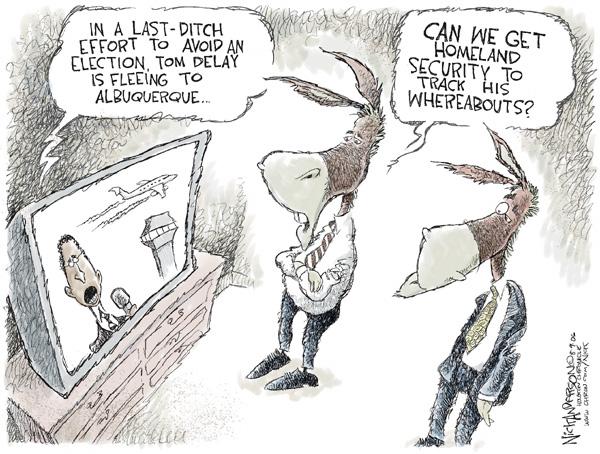 Cartoonist Nick Anderson  Nick Anderson's Editorial Cartoons 2006-08-09 delay