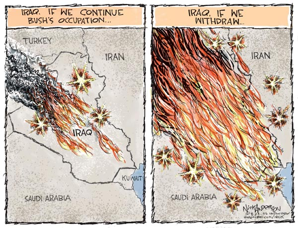 Nick Anderson  Nick Anderson's Editorial Cartoons 2006-08-23 Iran Iraq