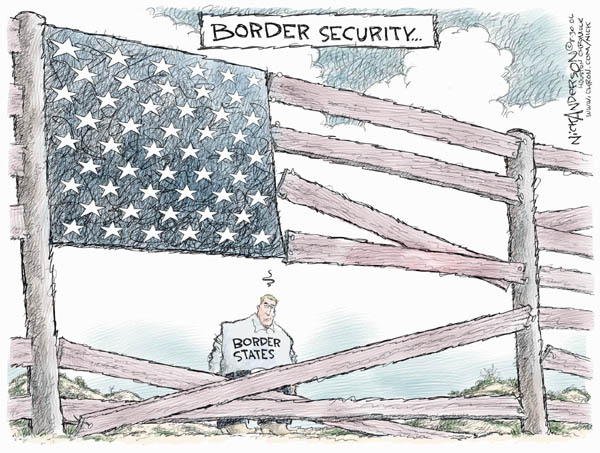 Nick Anderson  Nick Anderson's Editorial Cartoons 2006-08-30 immigration