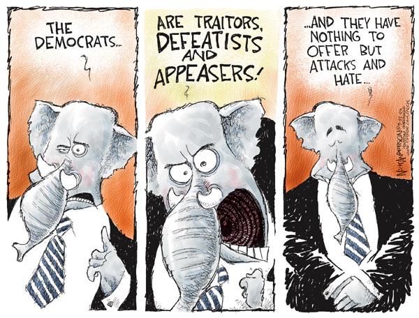 Cartoonist Nick Anderson  Nick Anderson's Editorial Cartoons 2006-09-03 partisanship