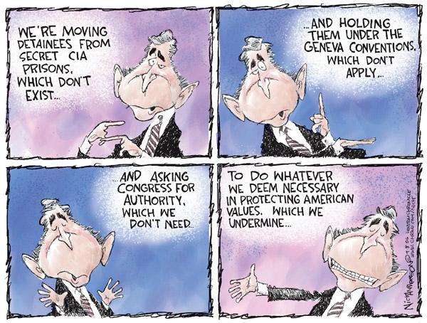 Cartoonist Nick Anderson  Nick Anderson's Editorial Cartoons 2006-09-08 separation of powers