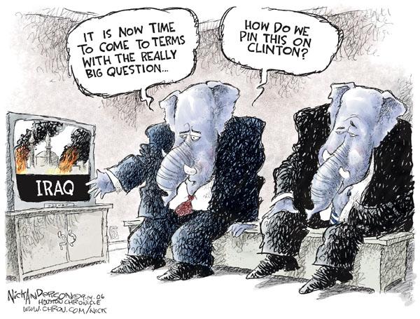 Nick Anderson  Nick Anderson's Editorial Cartoons 2006-09-14 partisan politics