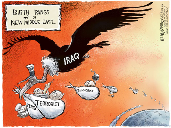 Cartoonist Nick Anderson  Nick Anderson's Editorial Cartoons 2006-09-26 Iran Israel