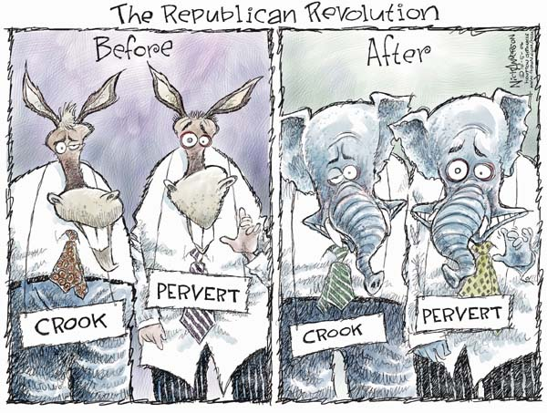 Nick Anderson  Nick Anderson's Editorial Cartoons 2006-10-05 congressional ethics