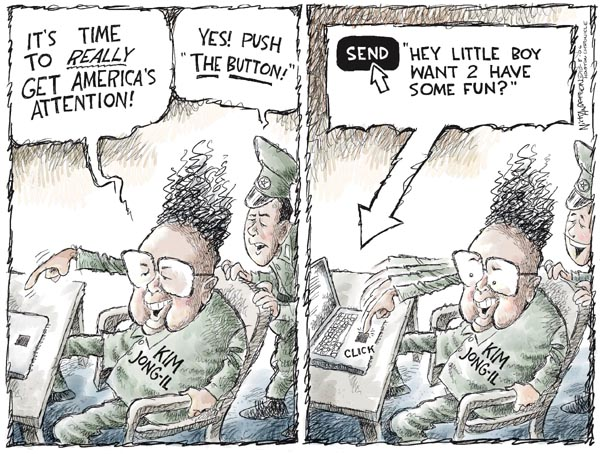 Cartoonist Nick Anderson  Nick Anderson's Editorial Cartoons 2006-10-08 nuclear bomb