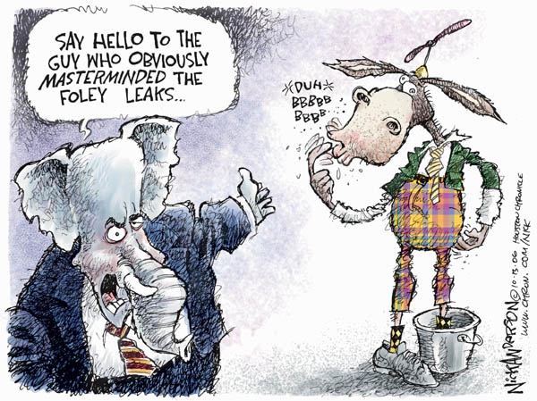 Cartoonist Nick Anderson  Nick Anderson's Editorial Cartoons 2006-10-13 republican politician
