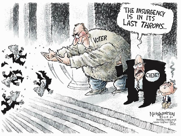 Cartoonist Nick Anderson  Nick Anderson's Editorial Cartoons 2006-11-09 Dick Cheney
