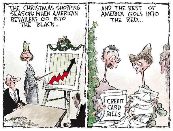 Cartoonist Nick Anderson  Nick Anderson's Editorial Cartoons 2006-12-13 Christmas