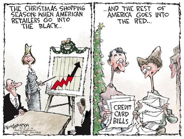 Cartoonist Nick Anderson  Nick Anderson's Editorial Cartoons 2006-12-13 Christmas shopping