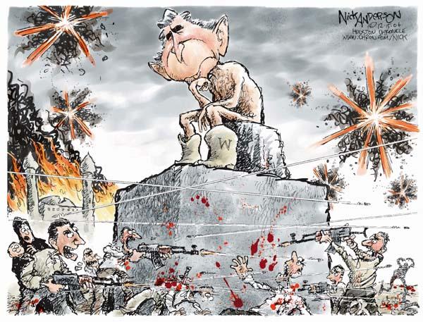 Cartoonist Nick Anderson  Nick Anderson's Editorial Cartoons 2006-12-15 weapon