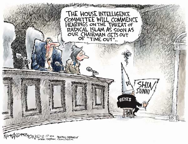 Cartoonist Nick Anderson  Nick Anderson's Editorial Cartoons 2006-12-17 terror threat