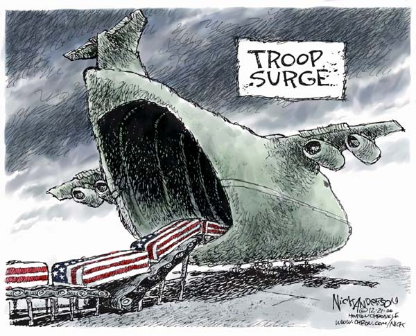 Nick Anderson  Nick Anderson's Editorial Cartoons 2006-12-21 military casualty