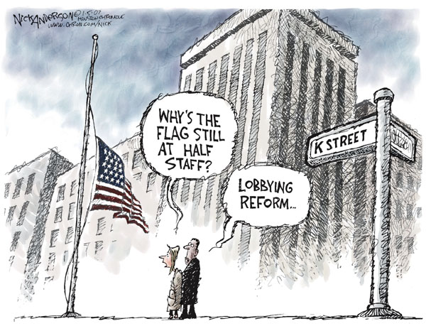 Nick Anderson  Nick Anderson's Editorial Cartoons 2007-01-05 congressional ethics