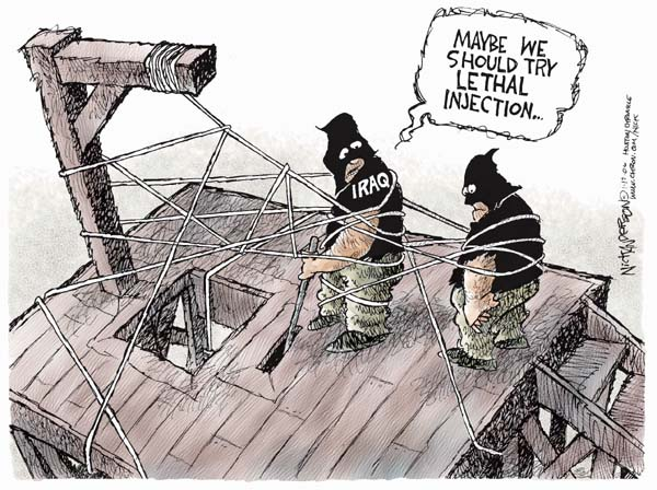 Nick Anderson  Nick Anderson's Editorial Cartoons 2007-01-17 Saddam