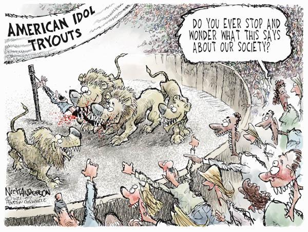 Cartoonist Nick Anderson  Nick Anderson's Editorial Cartoons 2007-01-21 society