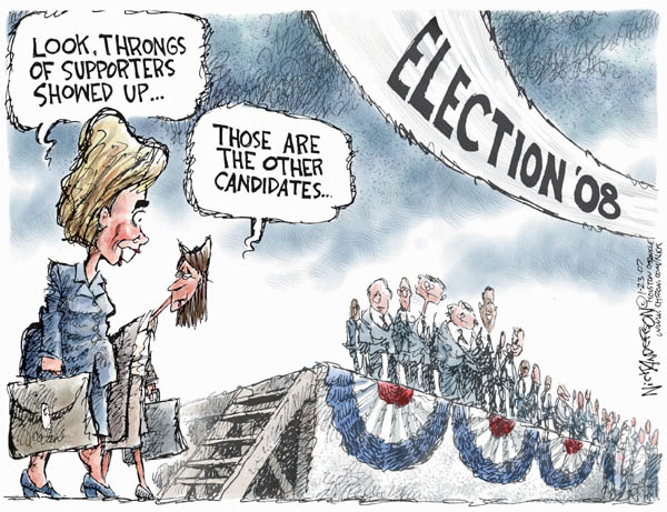 Cartoonist Nick Anderson  Nick Anderson's Editorial Cartoons 2007-01-23 presidential candidate