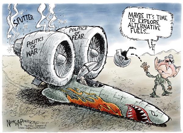 Cartoonist Nick Anderson  Nick Anderson's Editorial Cartoons 2007-01-24 engine