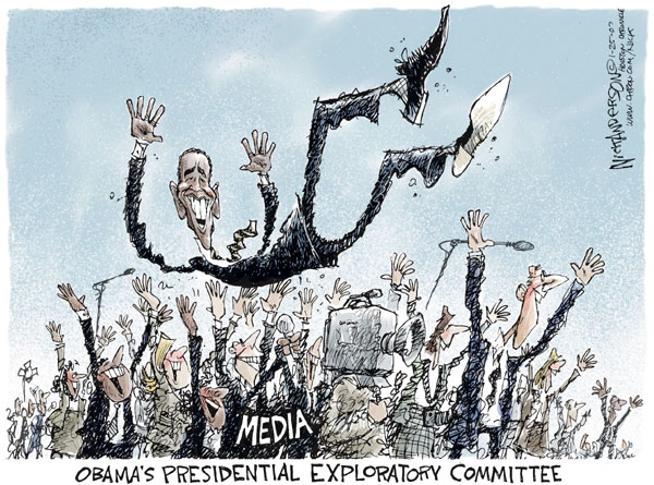 Cartoonist Nick Anderson  Nick Anderson's Editorial Cartoons 2007-01-25 presidential candidate