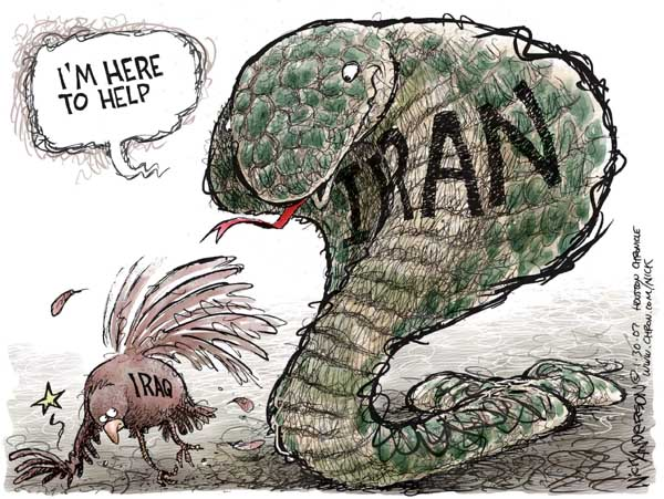 Nick Anderson  Nick Anderson's Editorial Cartoons 2007-01-30 Iran Iraq