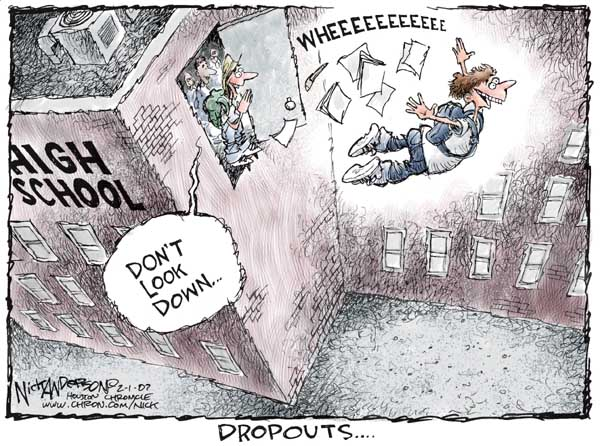 Nick Anderson's Editorial Cartoons - High School Dropout