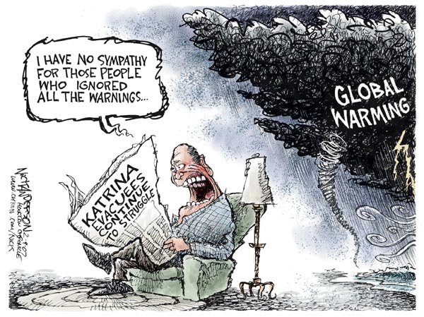 Cartoonist Nick Anderson  Nick Anderson's Editorial Cartoons 2007-02-09 disaster aftermath