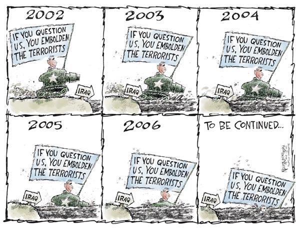 Cartoonist Nick Anderson  Nick Anderson's Editorial Cartoons 2007-02-14 patriotism