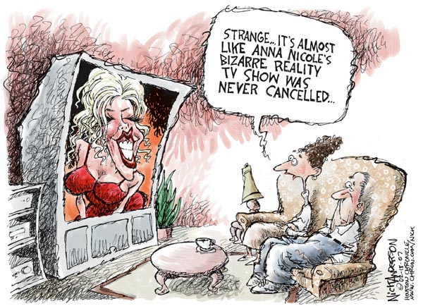 Cartoonist Nick Anderson  Nick Anderson's Editorial Cartoons 2007-02-18 reality television