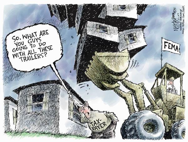 Cartoonist Nick Anderson  Nick Anderson's Editorial Cartoons 2007-03-11 disaster