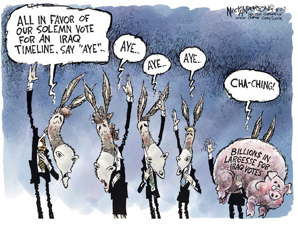 Nick Anderson  Nick Anderson's Editorial Cartoons 2007-03-18 military spending