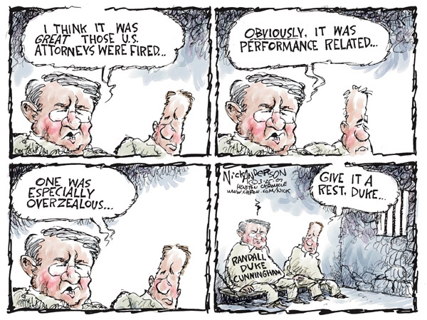 Nick Anderson  Nick Anderson's Editorial Cartoons 2007-03-23 congressional scandal