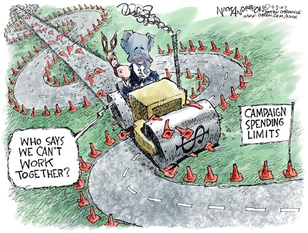 Cartoonist Nick Anderson  Nick Anderson's Editorial Cartoons 2007-04-03 republican politician