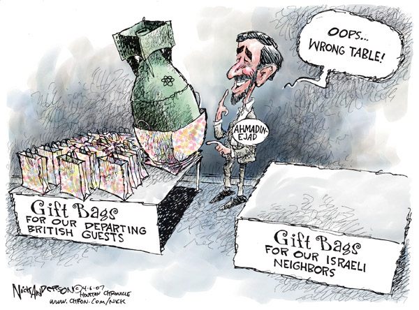 Nick Anderson  Nick Anderson's Editorial Cartoons 2007-04-06 nuclear bomb