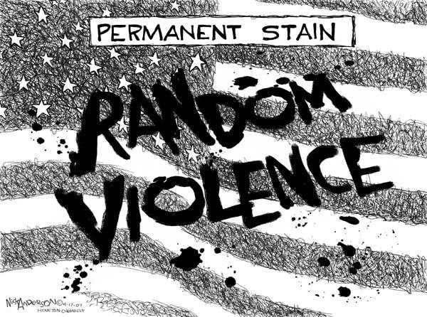 Cartoonist Nick Anderson  Nick Anderson's Editorial Cartoons 2007-04-17 gun violence