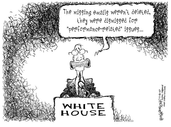 Cartoonist Nick Anderson  Nick Anderson's Editorial Cartoons 2007-04-18 separation of powers
