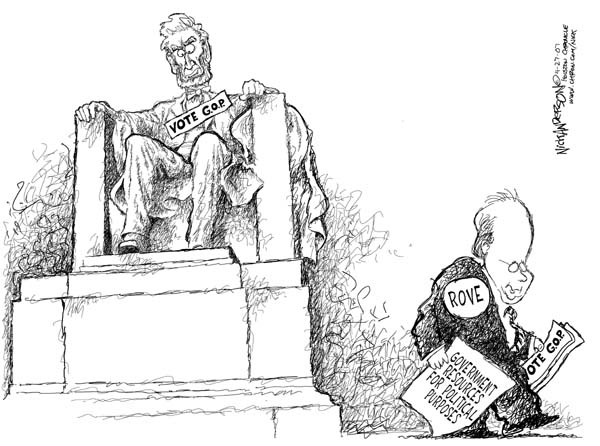 Nick Anderson  Nick Anderson's Editorial Cartoons 2006-04-27 Abraham Lincoln