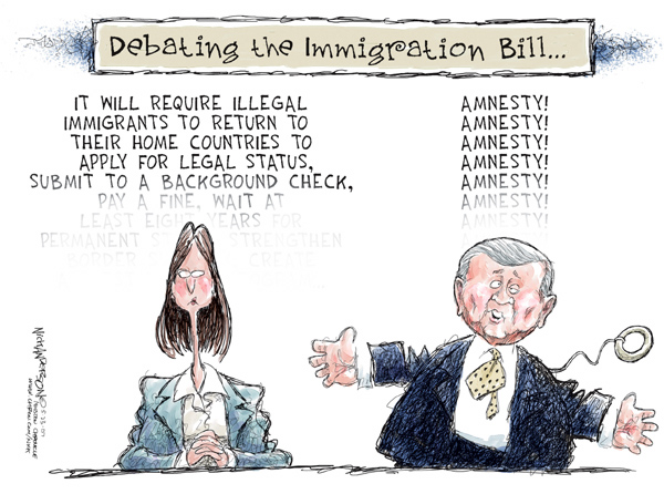 Cartoonist Nick Anderson  Nick Anderson's Editorial Cartoons 2007-05-23 background check