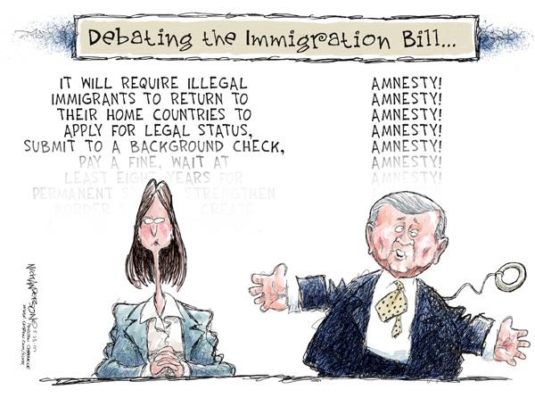 Nick Anderson  Nick Anderson's Editorial Cartoons 2007-05-23 immigration bill
