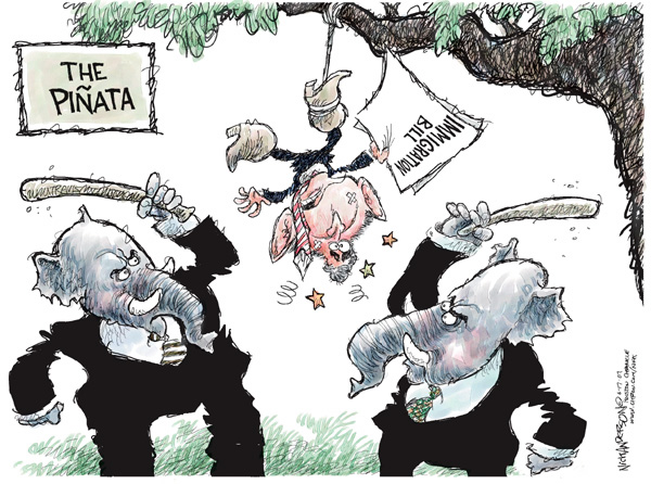 Cartoonist Nick Anderson  Nick Anderson's Editorial Cartoons 2007-06-17 republican politician