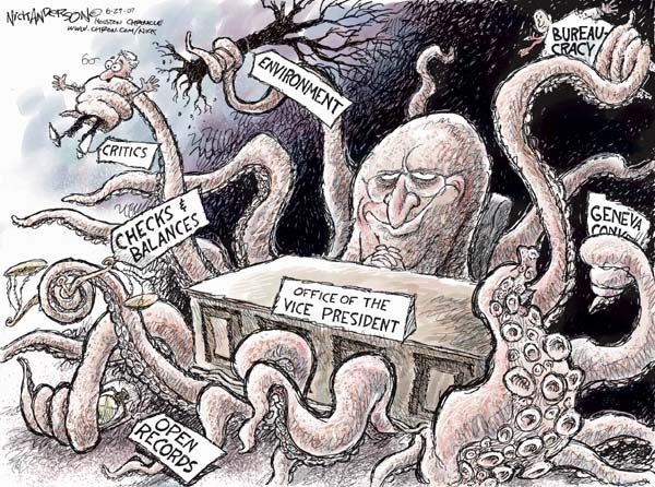 Cartoonist Nick Anderson  Nick Anderson's Editorial Cartoons 2007-06-29 Dick Cheney