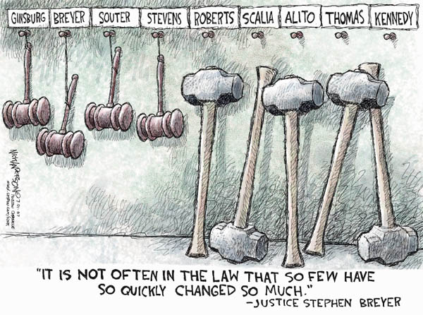 Nick Anderson  Nick Anderson's Editorial Cartoons 2007-07-01 supreme court decision