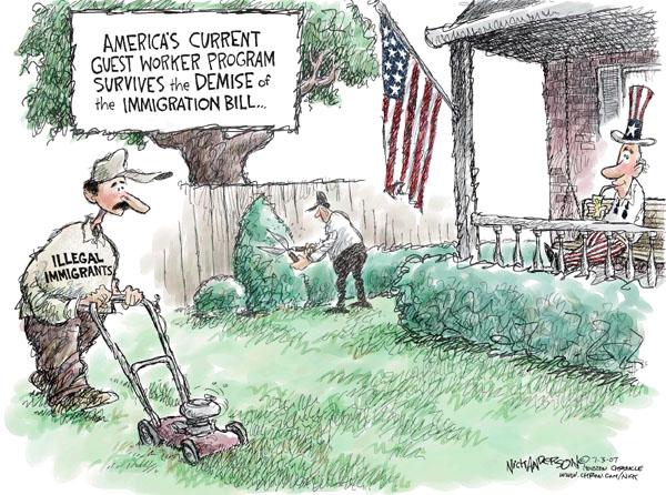 Nick Anderson  Nick Anderson's Editorial Cartoons 2007-07-03 immigration bill