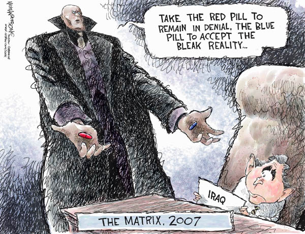 Cartoonist Nick Anderson  Nick Anderson's Editorial Cartoons 2007-07-11 bush