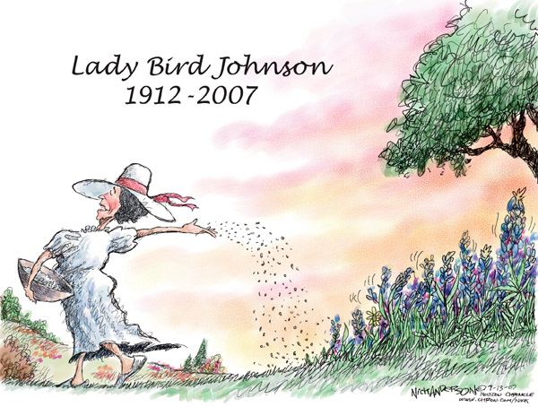 Cartoonist Nick Anderson  Nick Anderson's Editorial Cartoons 2007-07-13 first lady