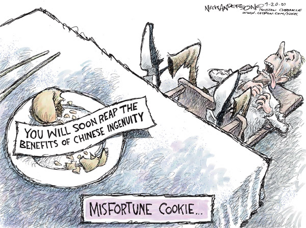 Cartoonist Nick Anderson  Nick Anderson's Editorial Cartoons 2007-07-20 fortune cookie