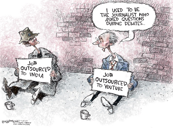 Cartoonist Nick Anderson  Nick Anderson's Editorial Cartoons 2007-07-25 unemployment