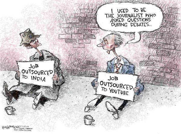 Cartoonist Nick Anderson  Nick Anderson's Editorial Cartoons 2007-07-25 political debate